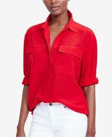 Lauren Ralph Lauren Crepe Button-Up Shirt
