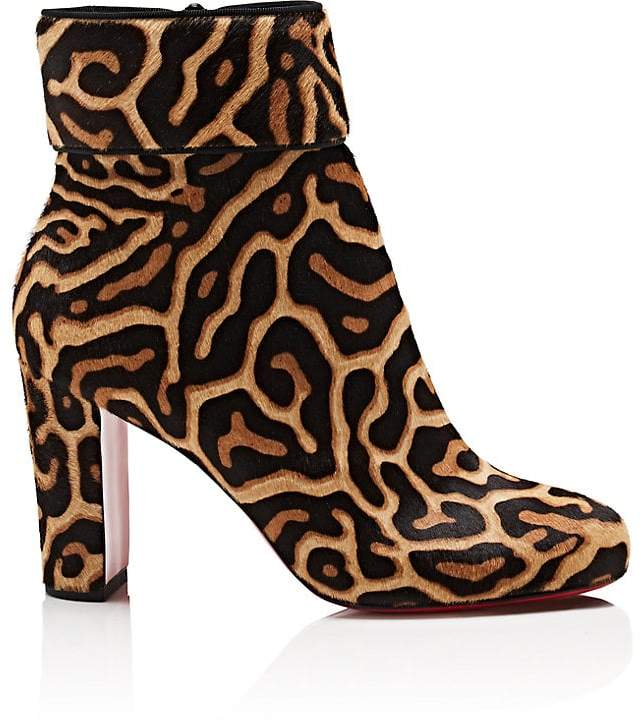 Christian Louboutin Women's Moulamax Calf Hair Ankle Boots