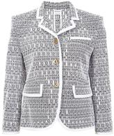 Thom Browne jacquard fitted jacket