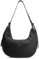 Elizabeth and James Zoe Large Tasseled Leather-trimmed Shell Shoulder Bag - Black