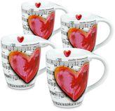 Konitz Love Song 4-pc. Mug Set