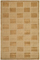 Safavieh TB111B-6 Tibetan Collection Hand-Knotted Apricot and Beige Wool Area Rug, 6-Feet by 9-Feet