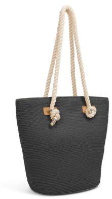Magid Large Metallic Straw Tote Bag