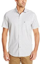 Nautica Men's Wrinkle Resistant Plaid Short Sleeve Shirt