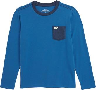 Vineyard Vines Edgartown Stripe Long Sleeve Pocket Performance T-Shirt