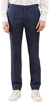 Jigsaw Bloomsbury Italian Cotton Linen Suit Trousers, Indigo
