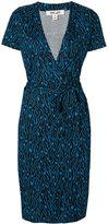 Diane von Furstenberg embroidered wrap dress