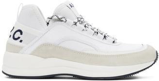 A.P.C. White Run Around Sneakers
