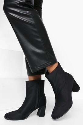 boohoo Low Flare Heel Shoe Boot