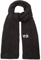 Y-3 Ribbed-edge knit scarf