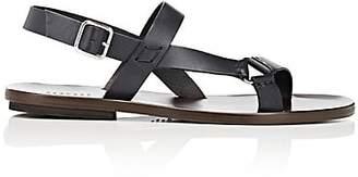 Barneys New York Men's Leather Slingback Sandals - Navy