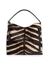 Tom Ford Alix Small Zebra Hobo Bag, Brown