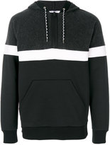 Givenchy striped panel hoodie