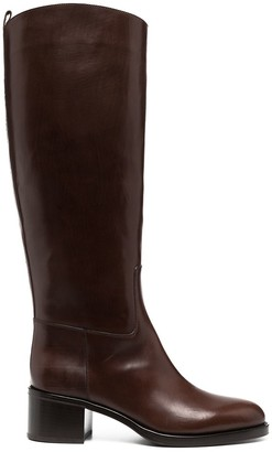 Sartore Marie crackled leather boots