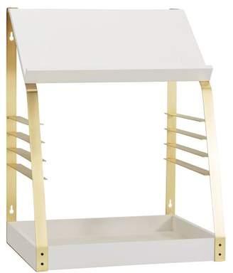 Pottery Barn Teen Laddered Standing Desk Converter, White/Brass