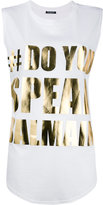 Balmain #DoYouSpeakBalmain tank top - women - Cotton - 34