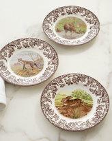 Spode Woodland Deer Dinner Plates, Set of 4