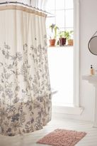 Plum & Bow Scattered Flowers Shower Curtain