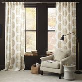 west elm Claude Medallion Flocked Curtain