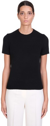 Theory T-shirt In Black Cashmere
