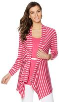 Liz Lange Striped Draped Cardigan and Tank Top Set
