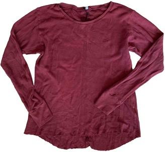 OAK Burgundy Cotton Top for Women