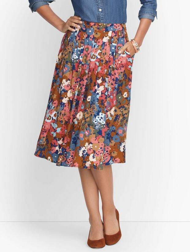 Talbots Pleated Wrap Skirt