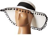 San Diego Hat Company UBL6486 Ultrabraid Sun Brim Hat with Pom Poms