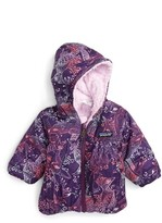 Patagonia Infant Girl's 'Honey Puff' Reversible Hooded Jacket