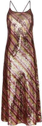 Rixo Sylvie sequin-embellished midi dress