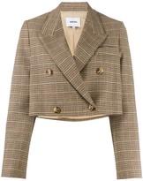 Nanushka double-breasted cropped blazer