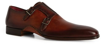 Magnanni Leather Opanka Monk Loafers