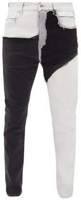 Rick Owens Detroit Cut Collage Stretch Cotton-blend Jeans - Mens - Multi