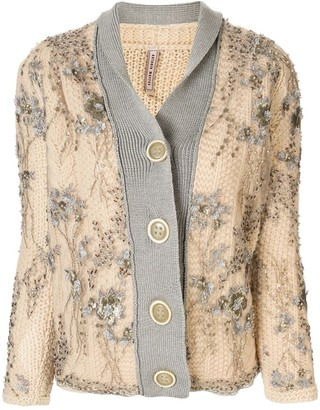 Antonio Marras Embellished Knitted Cardigan