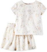 Carter's 2-Pc. Ivory Floral Top & Skirt Set, Toddler Girls (2T-5T)