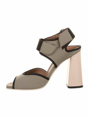 Marni Neoprene Velcro Sandals Olive