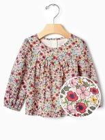 Gap Floral shirred shirt