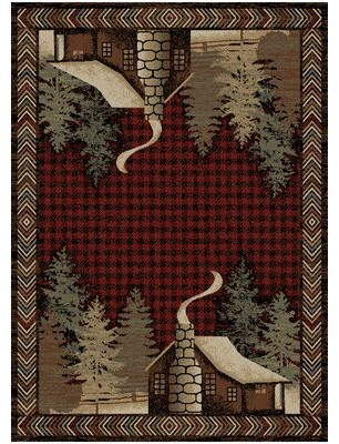 "Loon Peakâ® Hinds Power Loom Red Rug Loon PeakA Rug Size: Rectangle 2'3"" x 3'3"""