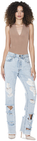 Alice + Olivia Genevive Distressed Jeans