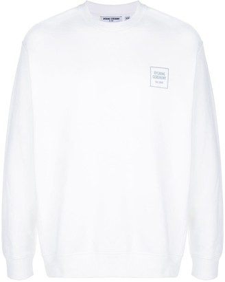 Opening Ceremony Embroidered Logo Crew Neck Sweatshirt
