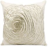 Kathy Ireland Home® by Gorham Silver Rose Square Throw Pillow in White