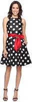 Tahari by ASL Shantung Polka Dot Party Dress
