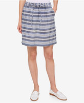 Tommy Hilfiger Striped Drawstring Skirt, Only at Macy's