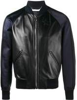 Givenchy Men's Black Leather Outerwear Jacket.
