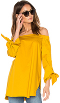 Tibi Off The Shoulder Tunic in Yellow