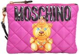 Moschino Small Teddy Bear Quilted Nylon Clutch