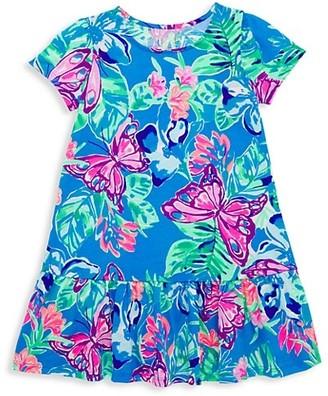 Lilly Pulitzer Little Girl's & Girl's Emina Tropical Flounce Dress