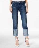 GUESS Alex Cuffed Light Medium Wash Straight-Leg Jeans