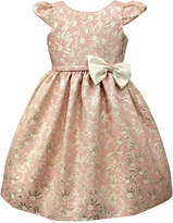 Jayne Copeland Floral Jaquard Cap Sleeve Dress, Little Girls (4-6X)