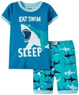 Hatley Great White Sharks PJ Set (Toddler/Kid) - Blue - 3T